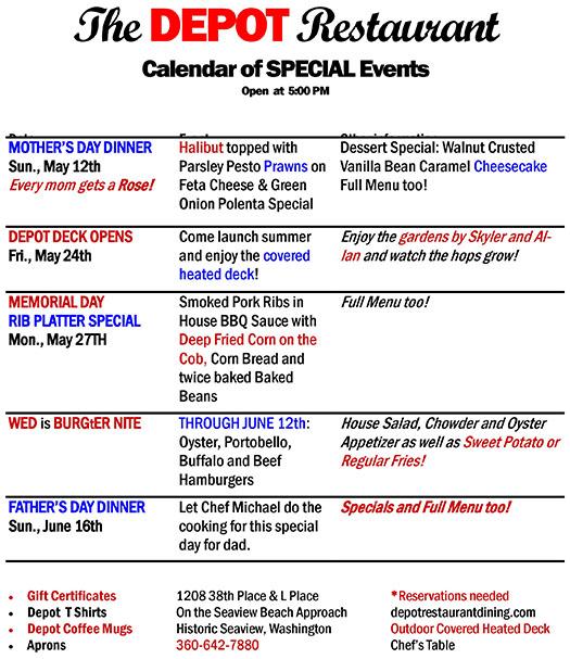 special events calendar